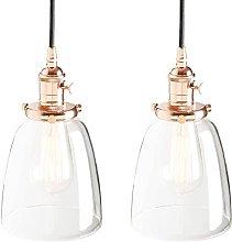 MAZ Retro Chandelier Hanging Lantern Edison Copper