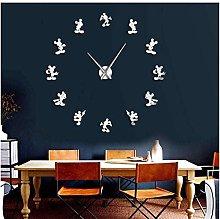 mazhant Mickey Design Diy Giant Wall Clock Cartoon