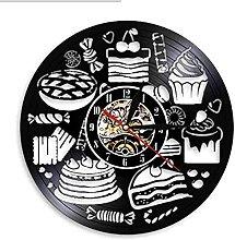 mbbvv Candy cake wall clock bakery wall clock day