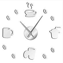 mbbvv Coffee time decoration 3D wall clock kitchen