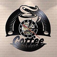 mbbvv Coffee Vinyl Record Wall Clock Modern Design