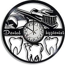 mbbvv Dentist Vinyl Wall Clock-Retro Vinyl Wall