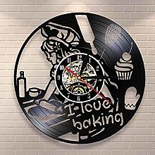 mbbvv I love baking decoration wall clock kitchen