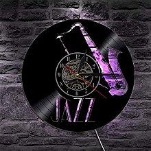 mbbvv Jazz CD Record Wall Clock Modern Design
