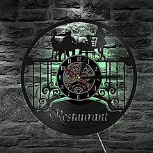 mbbvv Kitchen LED vinyl wall clock record wall