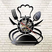 mbbvv Tableware Vinyl Record Wall Clock Spoon Fork