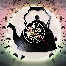 mbbvv Teapot Art Deco Creative Wall Clock Kitchen