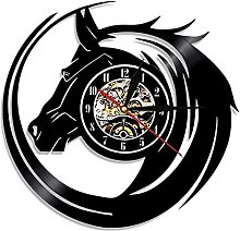 mbbvv Vintage horse head clock animal wall clock