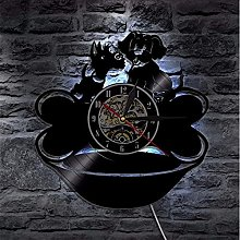 mbbvv Wall clock cute dog vinyl record wall clock