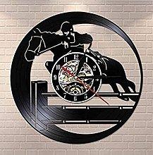 mbbvv Wall clock equestrian hobby vinyl wall clock