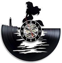 mbbvv Wall clock theme vinyl clock 3D recording