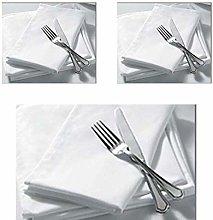 MBS 100% Cotton White Table Linen Wedding Napkins