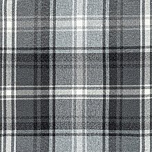 McAlister Textiles Angus Tartan Charcoal Grey