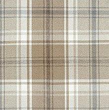 McAlister Textiles Angus Tartan Natural Beige