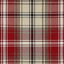 McAlister Textiles Angus Tartan Red + White Fabric