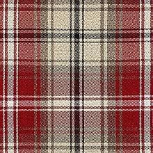 McAlister Textiles Angus Tartan Red + White Metre