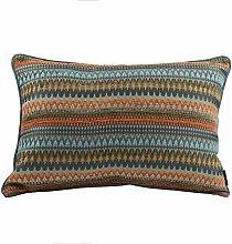 McAlister Textiles Curitiba Orange + Teal Blue