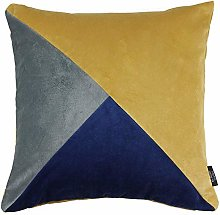 McAlister Textiles Diagonal Patchwork Cushion
