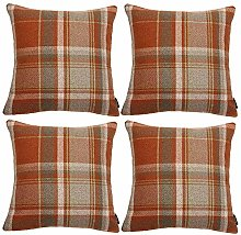 McAlister Textiles Heritage Tartan Burnt Orange