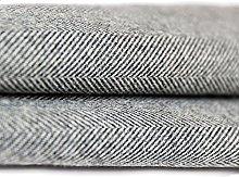 McAlister Textiles Herringbone | Charcoal Grey