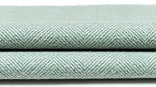 McAlister Textiles Herringbone Duck Egg Blue