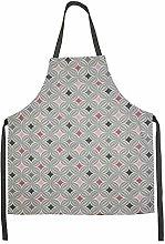 McAlister Textiles Laila Apron | Blush Pink + Grey