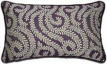 McAlister Textiles Little Leaf Dark Purple 60x40cm