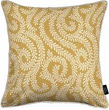 McAlister Textiles Little Leaf Ochre Yellow 43cm