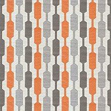 McAlister Textiles Lotta Burnt Orange + Grey