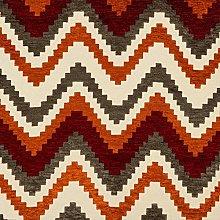 McAlister Textiles Luxury Red & Orange Chenille