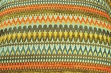 McAlister Textiles Luxury Textured Orange & Teal