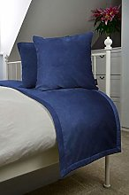 McAlister Textiles Matt Velvet Bedding Set | Navy