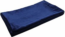 McAlister Textiles Matt Velvet Table Runner | Navy