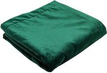 McAlister Textiles Matt Velvet Throw   Emerald
