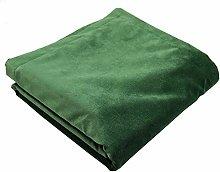 McAlister Textiles Matt Velvet Throw   Moss Green