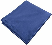 McAlister Textiles Matt Velvet Throw | Navy Blue