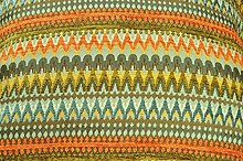 McAlister Textiles Orange & Teal Zig-Zag Geometric