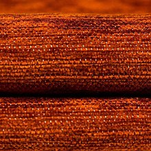 McAlister Textiles Plain Chenille Burnt Orange