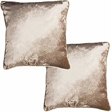 McAlister Textiles Set of 2 Crushed Velvet Filled