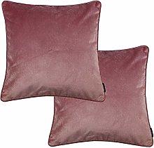 McAlister Textiles Set of 2 Matt Velvet Blush Rose