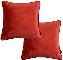 McAlister Textiles Set of 2 Matt Velvet Rust