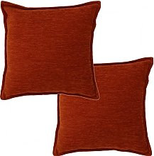McAlister Textiles Set of 2 Solid Chenille Cushion