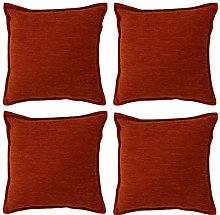 McAlister Textiles Set of 4 Solid Chenille Cushion