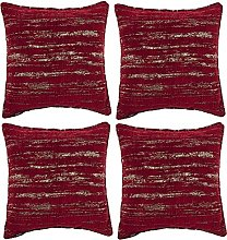 McAlister Textiles Set of 4 Textured Chenille