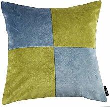 McAlister Textiles Square Patchwork Soft Velvet