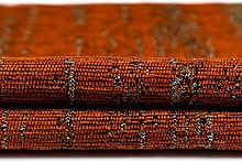 McAlister Textiles Textured Chenille Burnt Orange