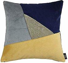 McAlister Textiles Triangle Patchwork Soft Velvet