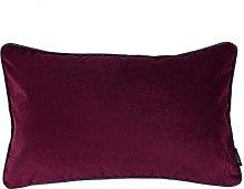 McAlister Textiles Velvet Dark Red 50x30cm Cushion