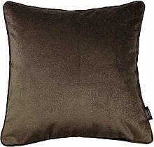 McAlister Textiles Velvet Mocha Brown 43cm Cushion