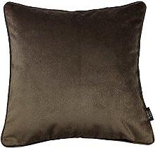 McAlister Textiles Velvet Mocha Brown 43cm Filled